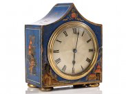 c1910 Edwardian Chinoiserie Decorated Mantel Clock