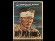 WWII USA Doing All You Can Brother War Bonds Poster