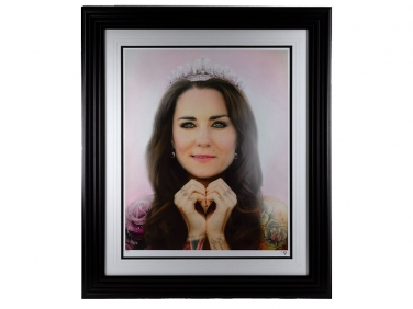 JJ Adams Signed Limited Edition Kate Middleton Tattoo