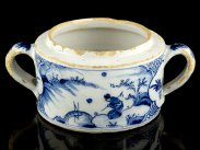 c1750 Bristol Delft Blue and White Chinese Style Tureen