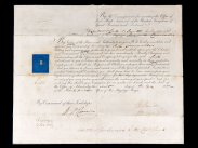 1823 & 1857 Royal Navy Commission Docs to Antarctica Surveyor