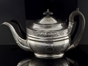 George III Sterling Silver Teapot London 1808