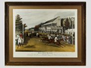 Charles Hunt Aquatint Horse Racing Goodwood Gold Cup 1838