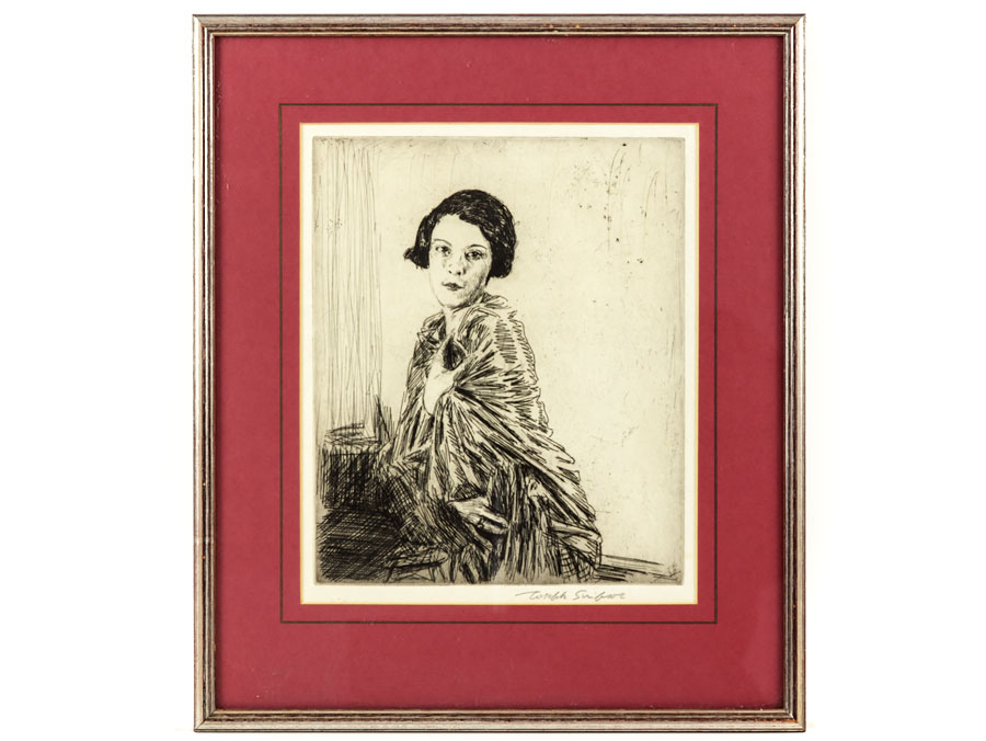 1927 Framed Etching of Betty by Joseph Simpson RBA : Parade Antiques ...