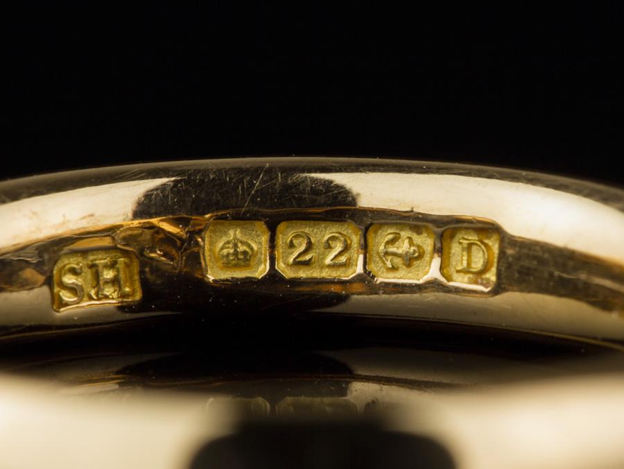 1953 22ct Rose Gold Wedding Band Ring Birmingham