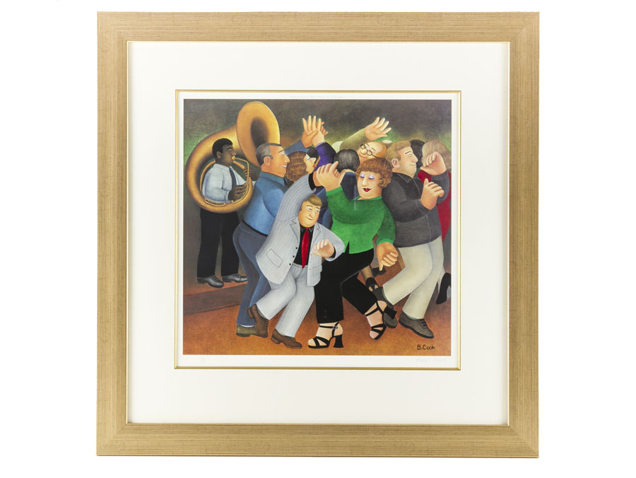 2001 Beryl Cook Signed Framed Lithograph Jiving to Jazz : Parade ...