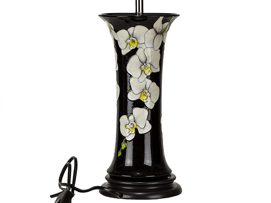 2017 Moorcroft Pottery Boxed Moth Orchid Column Table Lamp : Parade