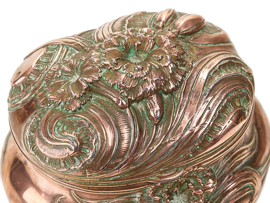 Art Nouveau Copper Jewellery Box c1915 Parade Antiques Shop for
