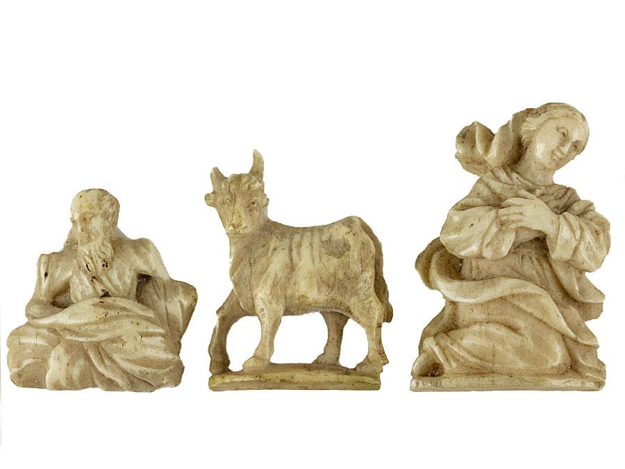 C1810 Napoleonic Pow Carved Bone Nativity Figures Parade Antiques Shop For Antiques Online Uk Plymouth Devon