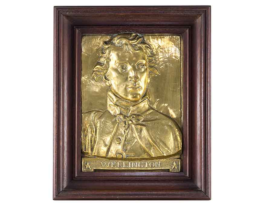 c1852 Framed Relief Plaque Bust of Duke of Wellington : Parade ...