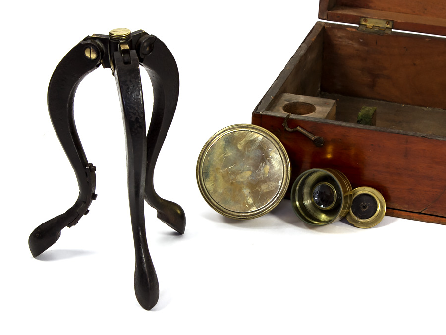C1870 cased large refracting telescope newton & co cappo belfast