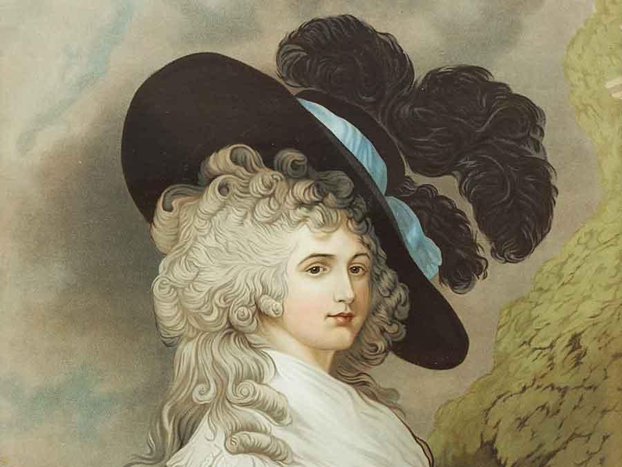c1880 georgiana duchess of devonshire coloured print