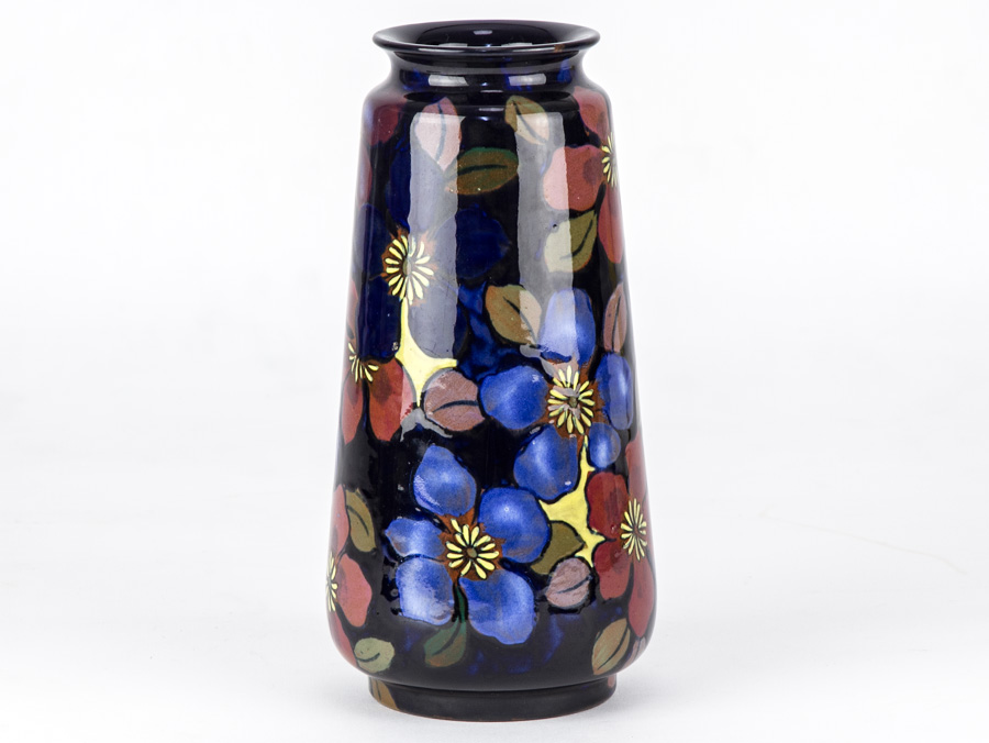 C1930 Royal Stanley Jacobean Pattern Painted Art Deco Vase Parade
