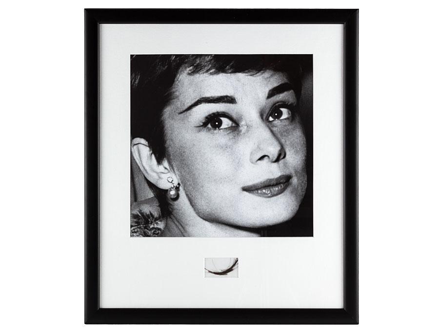 c1953 Original Framed Audrey Hepburn Lock of Hair : Parade Antiques ...