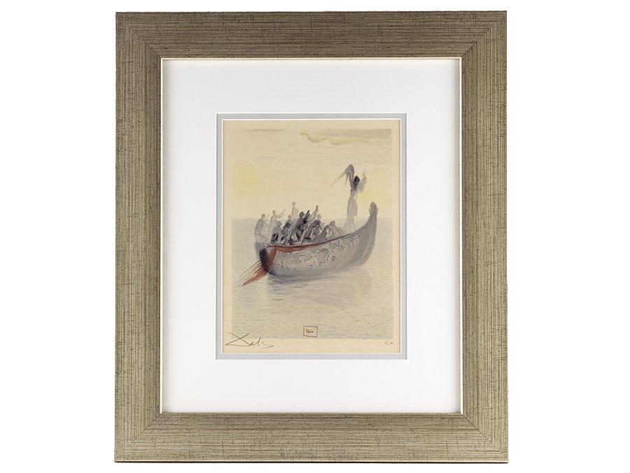 c1965 Framed Dali Signed AP Grim Boatsmans Boat Lithograph : Parade ...